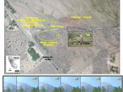English: C-130 crash site from NTSB report. Image is a product of a National Transportation Safety Board report, a U.S. Government product, and is in the public domain.