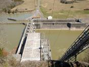 Switchyard View of Cordell Hull Dam and Lock