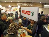 SPAR Krasnoyarsk, Russia - Nov 2012