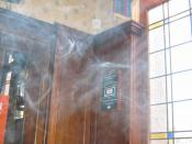 English: This photo illustrates smoke in a pub, a common complaint for those concerned with passive smoking.