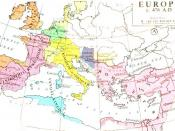 Europe after the fall of the Western Roman Empire in 476