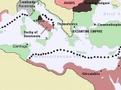 A Map of the Byzantine Empire by 650 AD