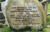 Monument to John Murnagh in Glenmalure