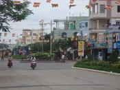 English: The Hung Vuong Street in Sa Dec Town