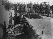 Mass grave for the dead Lakota after massacre of Wounded Knee.