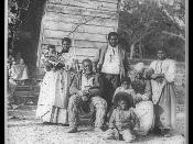English: Family on Smith's Plantation, Beaufort, South Carolina, circa 1862. Image courtesy of the Library of Congress and learnnc.org.http://www.loc.gov/pictures/item/98504449/?sid=fb0f089efba8170d34949efa29d48023