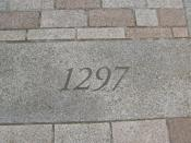 English: Battle of Stirling Bridge Stone A stone laid in the ground in the shadow of the old bridge of Stirling to commemorate the battle in 1297 when the Scots army led by (Sir) William Wallace and Sir Andrew Moray defeated a much larger English army. ht