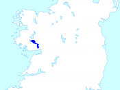 English: A map highlighting the location of Lough Corrib within Ireland.