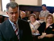 Attorney Mike Faulk asking questions during jury selection
