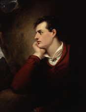 George Gordon Byron, 6th Baron Byron, by Richard Westall (died 1836). See source website for additional information. This set of images was gathered by User:Dcoetzee from the National Portrait Gallery, London website using a special tool. All images in th
