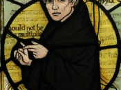 William of Ockham, from stained glass window at a church in Surrey