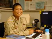 Spc. Kay Izumihara, an Occupational therapist with the JTF-GTMO combat stress team.