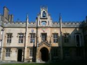 English: Sidney Sussex College chapel, taken at the start of the Easter holidays, 2011.