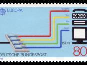 English: Europa postage stamps, transport and communication Deutsch: Europamarke, Transport und Kommunikation :*Graphics by Jünger :*Ausgabepreis: 80 Pfennig :*First Day of Issue / Erstausgabetag: 5. Mai 1988 :*Michel-Katalog-Nr: 1368