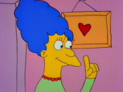 Marge in her first televised appearance in