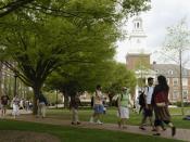 Keyser Quadrangle in Spring at the Johns Hopkins University
