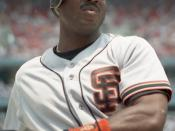 English: Barry Bonds on deck in 1993.