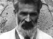 English: Portrait of Brâncuşi. Français : Edward Steichen: Portrait de Constantin Brâncuşi (1876-1957), pris dans l'atelier de Brâncuşi à Voulangis, Seine-et-Marne, France, en 1922