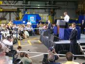 President Obama speaking to Alcoa employees on June 28, 2011 about the growth & future of manufacturing