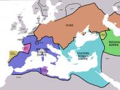 Map of territorial boundaries ca. 450 AD