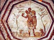 The Good Shepherd: Early Christian catacomb art.