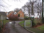 English: Entrance to Maple Ridge School Entrance gates to Maple Ridge Primary School. It is a special school, providing for pupils with statemented special educational needs. Although designated as a Moderate Learning Difficulty (MLD) school, most of the