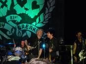 Green Day performing in a 21st Century Breakdown showcase concert at the Kesselhaus, Berlin, May 7, 2009