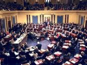 English: Floor proceedings of the U.S. Senate, in session during the impeachment trial of Bill Clinton.