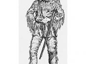 English: Coureur de Bois in typical dress. These Frenchmen became involved in the 1650s in the fur trade. Woodcut by Arthur Heming (1870 - 1940). Credit: Heming, National Archives of Canada, C5746 http://www.canadianheritage.org/images/large/20061.jpg