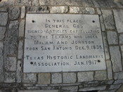 English: The site of capitulation of San Antonio, 1835