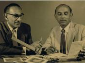 Photograph of Gabriel (on the right) and Maxim Shamir at work in the