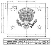 Specification for the 1975 (and still current) version of the Flag of the Vice President of the United States. This is an attachment to President Ford's Executive Order 11884, which defined the flag.