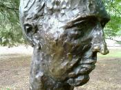 English: Bust of the twenty-fourth Prime Minister of Australia en:Paul Keating by political cartoonist, caricaturist and sculptor en:Peter Nicholson located in the en:Prime Minister's Avenue in the Ballarat Botanical Gardens. Photo taken by WikiTownsvilli