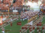 2007 Texas Longhorns football team enters the field on opening day