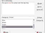 English: Content: Well-known C19th pangram The quick brown fox jumps over the lazy dog Category:Screenshots of Linux software