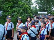 Boys and girls can be seen together in one Scouting unit in Vietnam