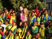 John Travolta and Kelly Preston at the Nelson Mandela Foundation