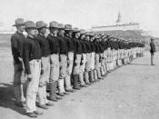 English: First company of native Puerto Ricans enlisted in the American Colonial Army, Puerto Rico