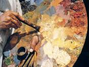 Photo of an oil painting palette. Photo taken by Max Wehlte. Max Wehlte allows use of his photographs for any purpose.