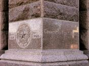 English: Cornerstone of the Texas State Capitol