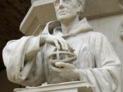 Roger Bacon (c1214-1294), statue (19th century) in the Oxford University Museum of Natural History.