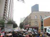 March against violent crime, New Orleans Central Business District.