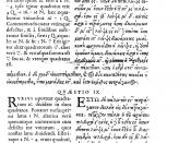 Problem II.8 in the 1621 edition of the Arithmetica of Diophantus. On the right is the famous margin which was too small to contain Fermat's alleged proof of his