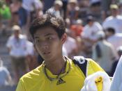 English: Lu Yen-hsun at the 2008 U.S. Open - Men's Singles