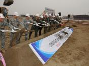 Breaking ground for Operations and Aircraft Maintenance Unit Facility