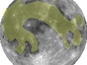 Rabbit in the moon facing left