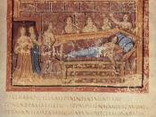 Aeneid, Book IV, Death of Dido. From the Vergilius Vaticanus (Vatican Library, Cod. Vat. lat. 3225).