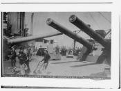 12-in. guns amid ships HMS INDOMITABLE (Dread Cruiser)  (LOC)