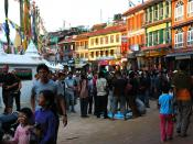 English: Tourists in Kathmandu, Nepal