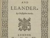 English: Title page of Marlowe's Hero and Leander, 1598
